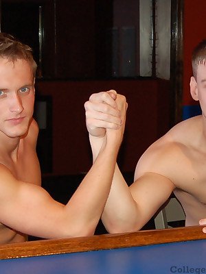 Aaron James Rams Twink Galilee at one's disposal CollegeDudes